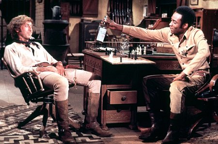 Gene Wilder and Cleavon Little and bottle