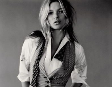 Kate Moss, who, until 2009, was the only robotic fashion model.